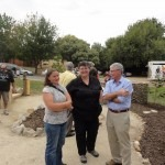 Re-Tabitha Barclay, Garden Designer, Judy Davis, YCEN and Dr Phil Moors, HMSTrust at the Yackandandah Community Garden Launch (960x1280)